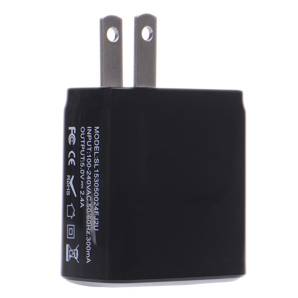 Oplader til telefonoplader 3.1A Dual USB-portvæg Hjemrejse - Mobiltelefon tilbehør og reparation dele - Foto 1
