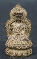 85MM/3.3 Collection Antique Chinese Bronze Exquisite Buddhism Ksitigarbha Bodhisattva Buddha Statue Statuary 155g
