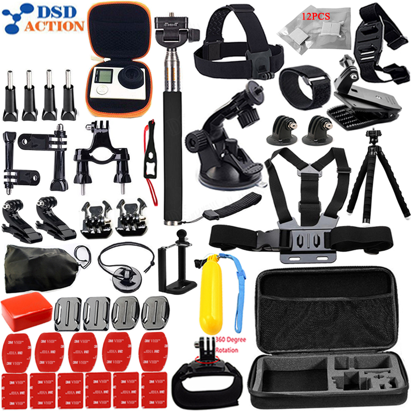 Accessories Set for all Gopro Chest Belt 360 rotation clip for Go pro Hero 5 4