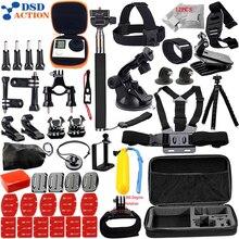 Set de accesorios para todos Gopro Correa Pecho 360 rotación clip para Ir pro Hero 5 4 3 + 2 xiaomi yi Eken h9 cámara de acción 12J