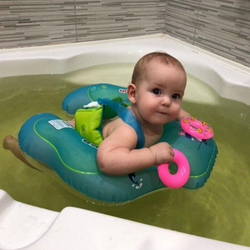 Anneau de natation de bébé, flotteur gonflable de piscine de bébé avec le siège idéal pour la pataugeoire d'enfants