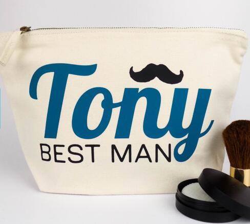 Personalised Best Man Groomsman Wedding Gift Make Up Bags Unique