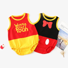 BigMa Kids Bodysuits 2019 Summer Baby Sleeveless Cartoon