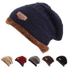 Hot Selling Ski Cap Cold Warm Leather Winter Hat For Women Men Knitted Bonnet Skullies Beanies
