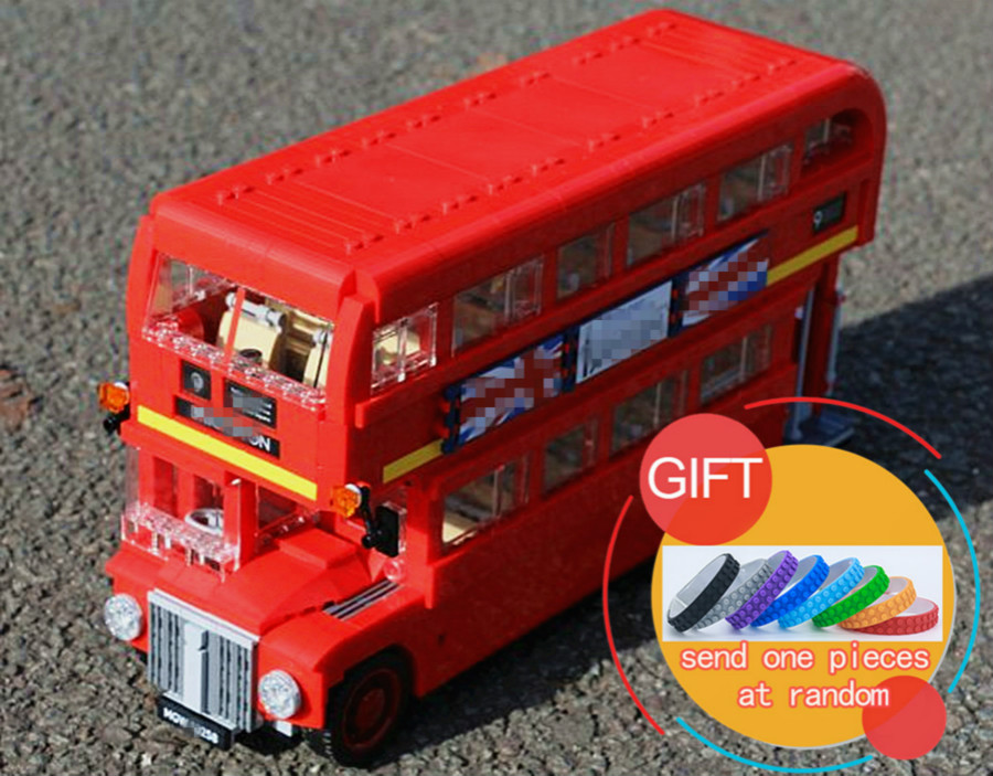 21045 1716Pcs Technical Series The London Bus Set Model Building Blocks compatible with 10258 Children Gifts lepin new lepin 16009 1151pcs queen anne s revenge pirates of the caribbean building blocks set compatible legoed with 4195 children