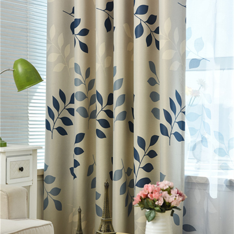 XYZLS European Style Tree Leaves Tulle Curtain Blinds Blackout Curtains Window Treatment Fabric for Living Room Bedroom Decor