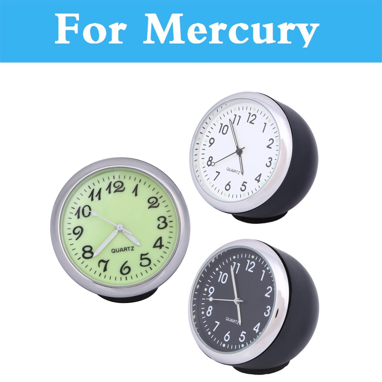 Car Mechanics Quartz Clock Mini Noctilucent Watch Digital Pointer Car Clock For Mercury Marquis Mariner Milan Montego Grand