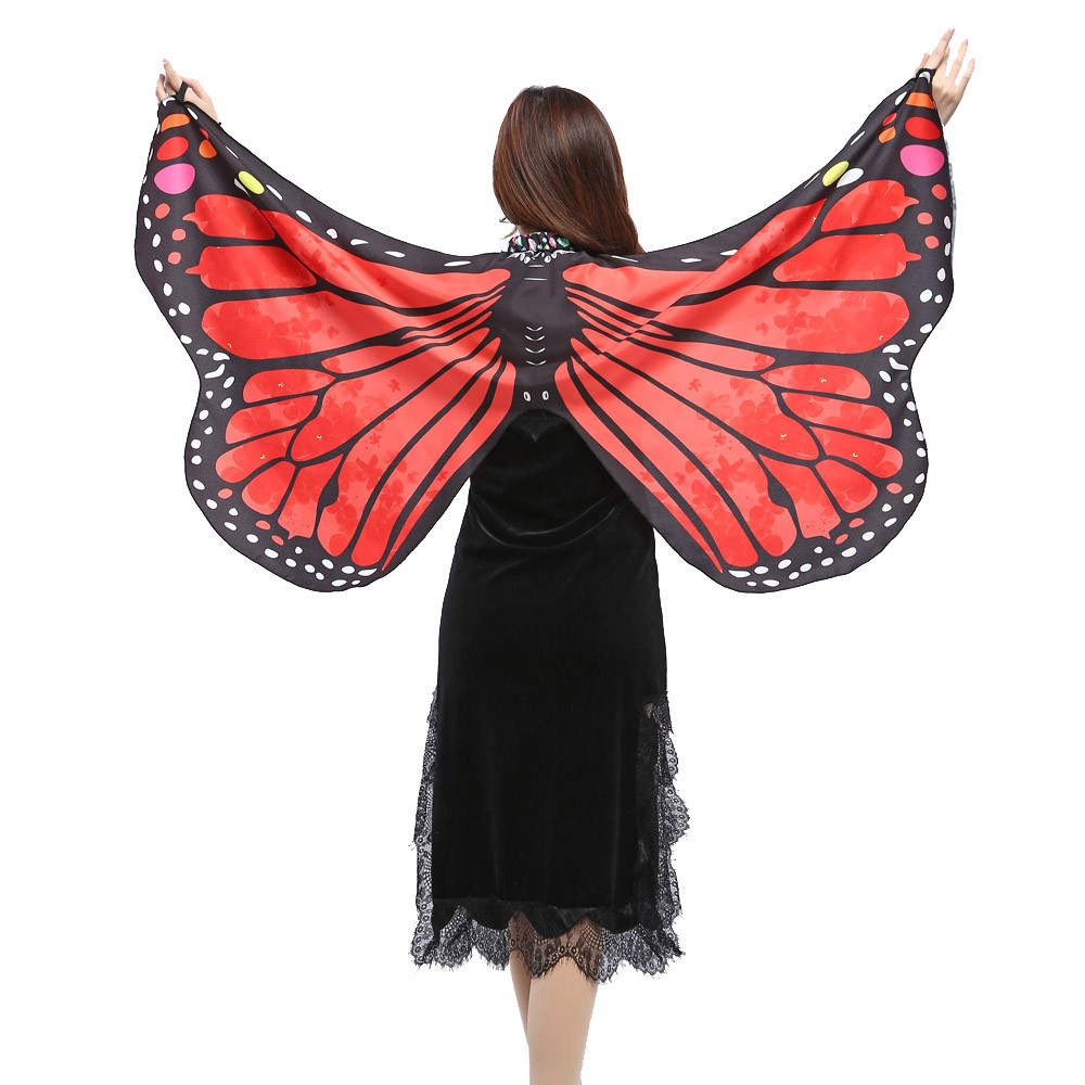Fancy Pixie Shawl Butterfly Scarf Soft Girls Cosplay Wings Costume Nymph Fairy
