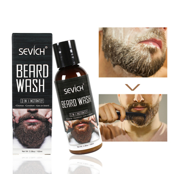 Sevich 100ml Beard Wash for Men Beard Shampoo Mustache Wash Moisturizing Smoothing Gentlemen Beard Care 1