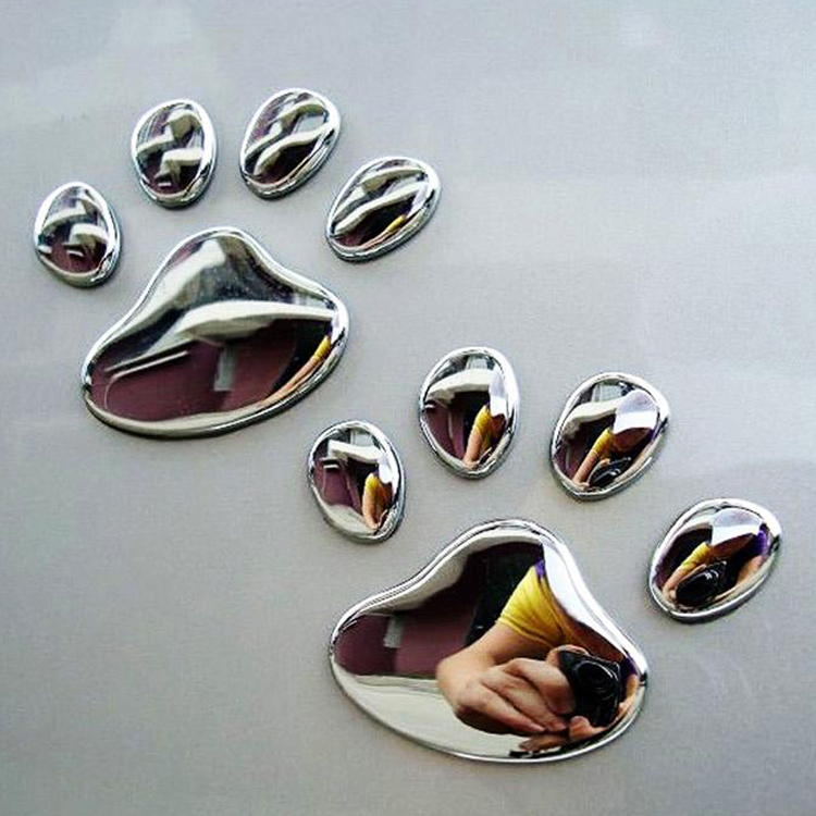 1 PCS New Cute Feet Car Sticker 3D Bear Paw Pet Animal Footprints Car Sticker Truck Decor Decal Accessories 4