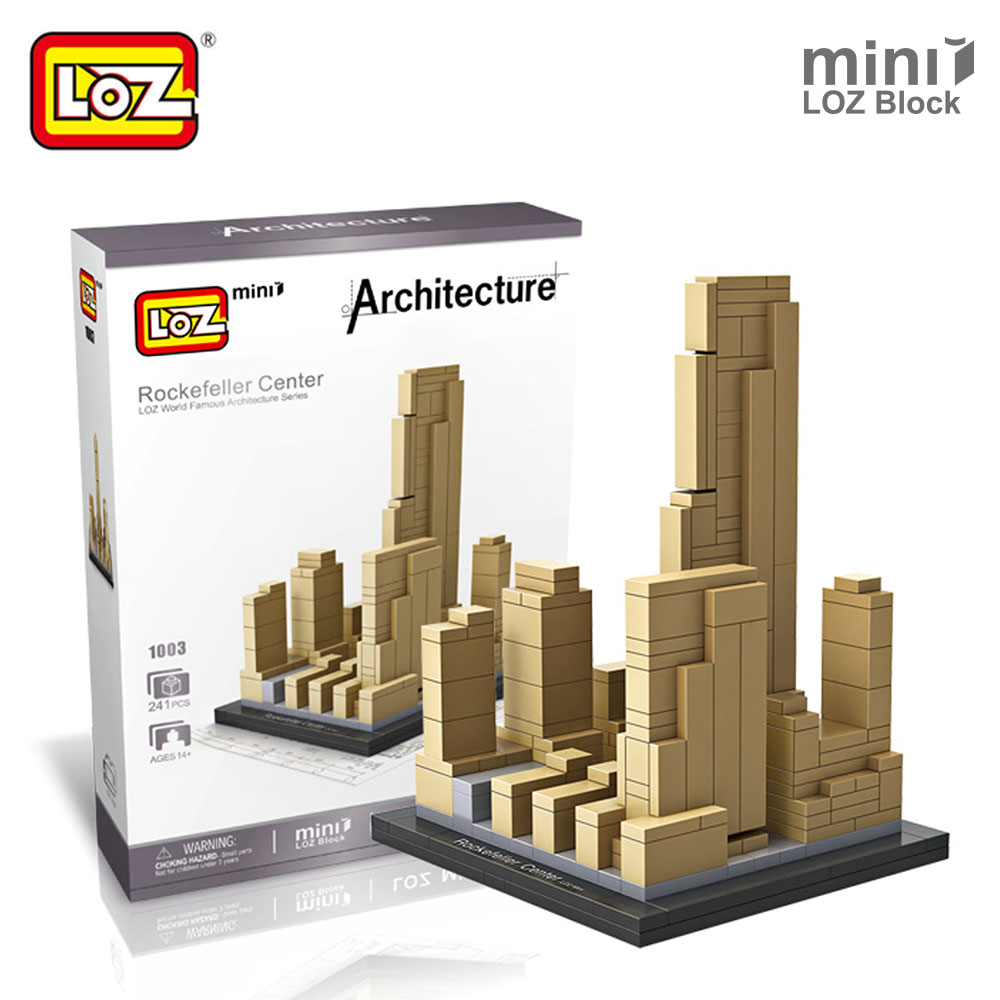 LOZ Mini Blocks Rockefeller Center Architectural Building Models World Famous Architecture LOZ Building Blocks Toys For Children 2016 new calls recorder for mobile phone record phone call on time for any phone size free shipping