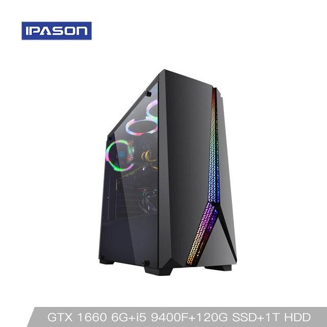 Intel Desktop Gaming PC P24 i5 9400F 6-core /Dedicated Card GTX1660 6G/ASUS B365M/1T+120G SSD/8G DDR4 RAM PUBG gaming Desktop PC 1