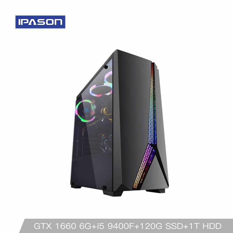 كمبيوتر ألعاب مكتبي من انتل P24 i5 9400F 6-core/بطاقة مخصصة GTX1660 6G/ASUS B365M/1 T + 120G SSD/8G DDR4 RAM PUBG حاسوب شخصي مكتبي للالعاب