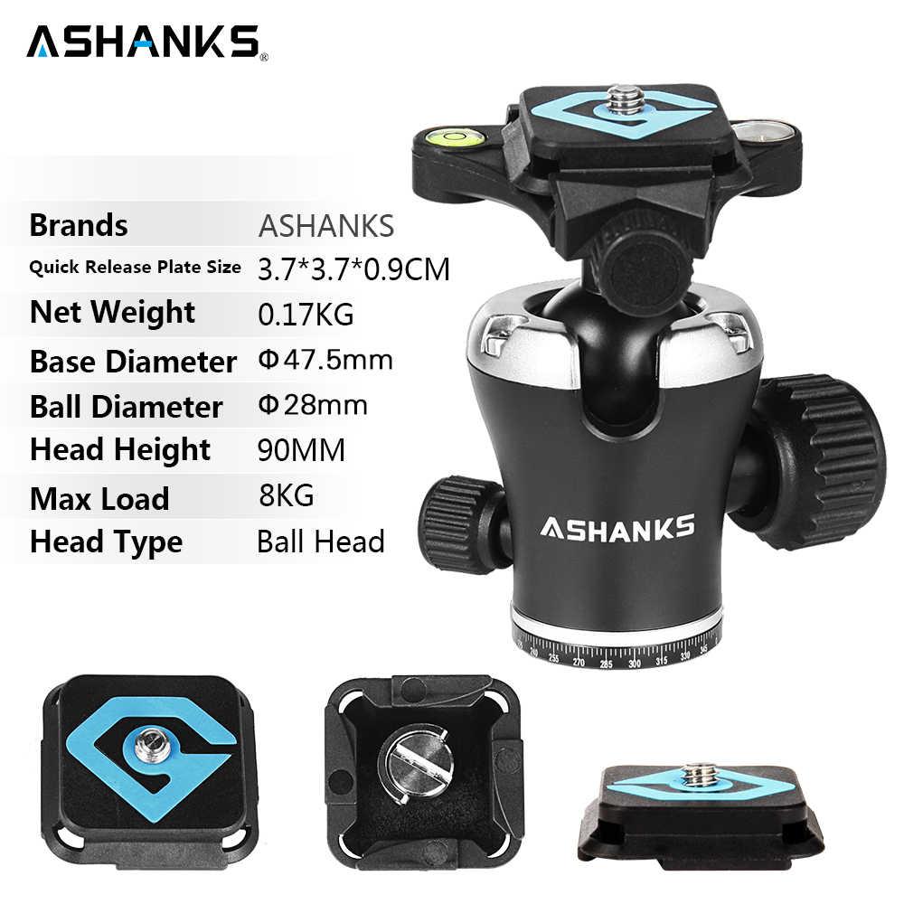 ASHANKS A666 штатив камера 55,9 ''/142 см профессиональный видео дорожный треножник для камеры алюминиевый шаровой головкой компактный для цифровой SLR DSLR