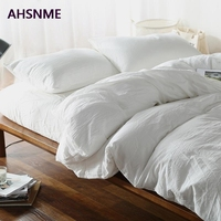 AHSNME 100% Cotton bed linen Super Soft Bedclothes Bedcover Cool Summer White Duvet Cover comforter bedding sets