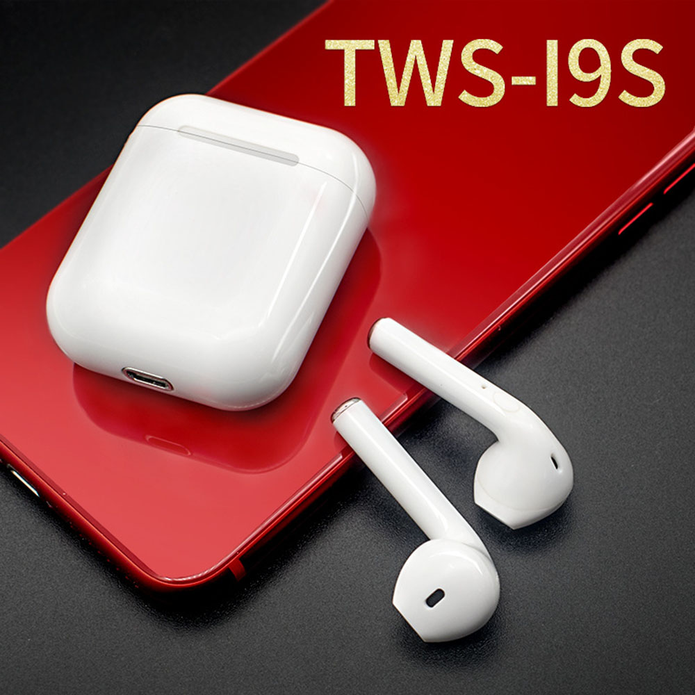 i8 i9s TWS Mini Sport Wireless Bluetooth Earphones Headphone Cordless Ear pods Mic air Headphones pods For iPhone Android