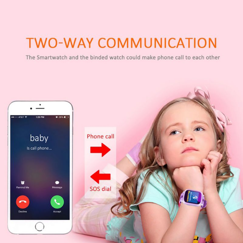 DS18 IP65 Waterproof Drop-proof Smart Watch Children's Emergency Help Alarm Clock Voice Intercom Sports Step Counter Watch