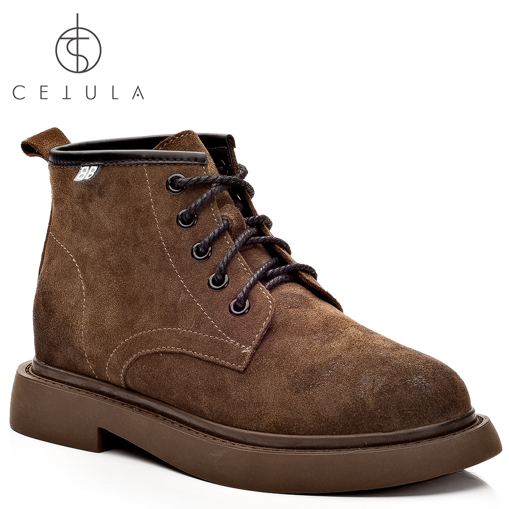 @Cetula 2018 Handcrafted Traditional Lace-up Quilted Effect Finished Suede Hi-top Women Chukka Boots ft. Stitching Outsole тень медработника злой медик