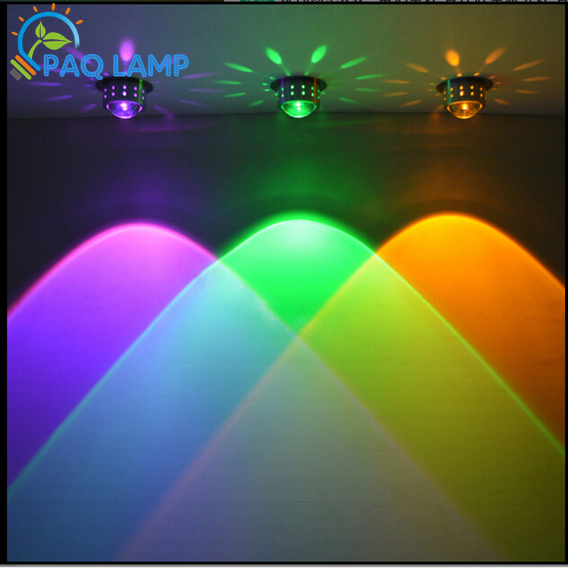 3W led Background ceiling wall lamp colorful Scattered light Hall Porch Walkway Lobby bar decorate Light Fixture