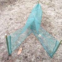 Dobrável automático rede de pesca caranguejo peixe lagosta camarão minnow isca de pesca rede de pesca captura armadilha isca b105