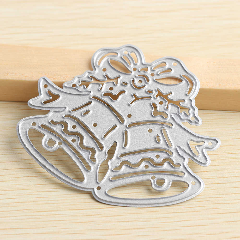 1 Pc Useful Metal Cutting Matrices DIY Scrapbook Paper Crafts Stamping Paste template christmas bell leaves stencils cutter