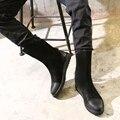 Botas de Homens moda Inverno Inglaterra Estilo Retro Suede Ankle Boots Botas Martin Maré Botas de Neve Quente dos homens Novos da Chegada