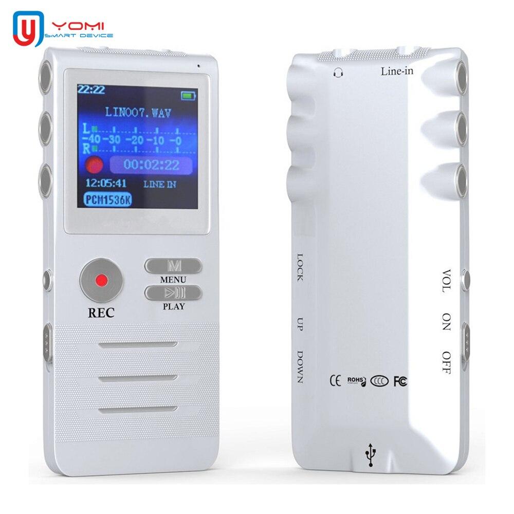 Mini enregistreur vocal 8G professionnel réduction vocale enregistreur vocal numérique stylo enregistreur MP3 prise en charge de la lecture en temps réel
