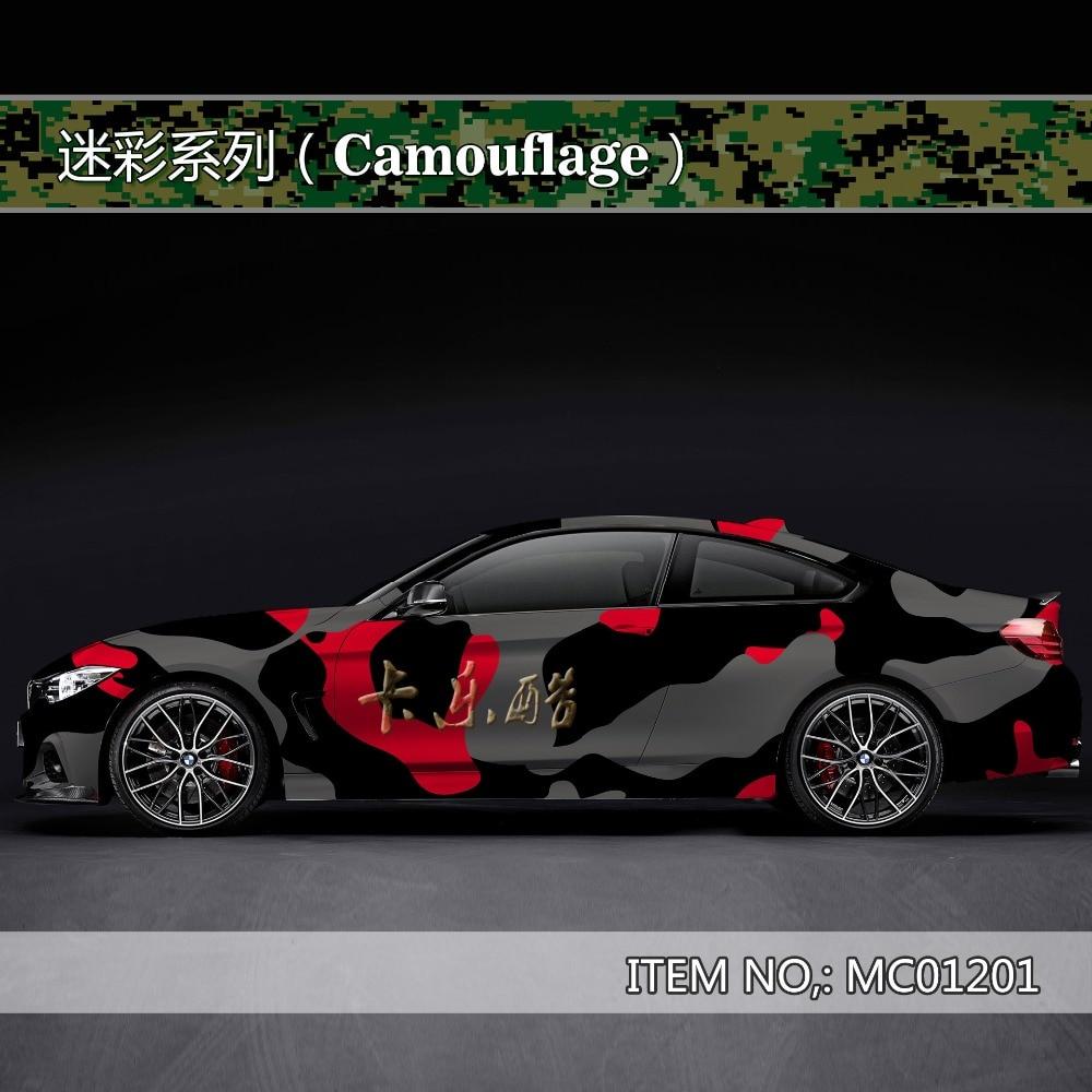 Camouflage Custom Car Sticker Bomb Camo Vinyl Wrap Car Wrap With Air Release Snowflake Bomb Sticker Car Body StickerMC012