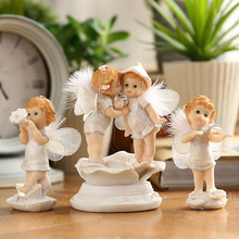 Fairy Garden 7 Styles Resin Baby Angel Figurine Lovely Miniatures Cute Crafts For Home Decor Creative Gifts Kids Child