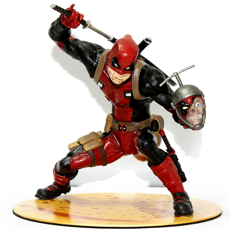 15 cm Red Deadpool Assembly Figurine PVC Action Figure Toy Doll Kids Adult Collection Model Gift pop figurine collection toy figure model doll