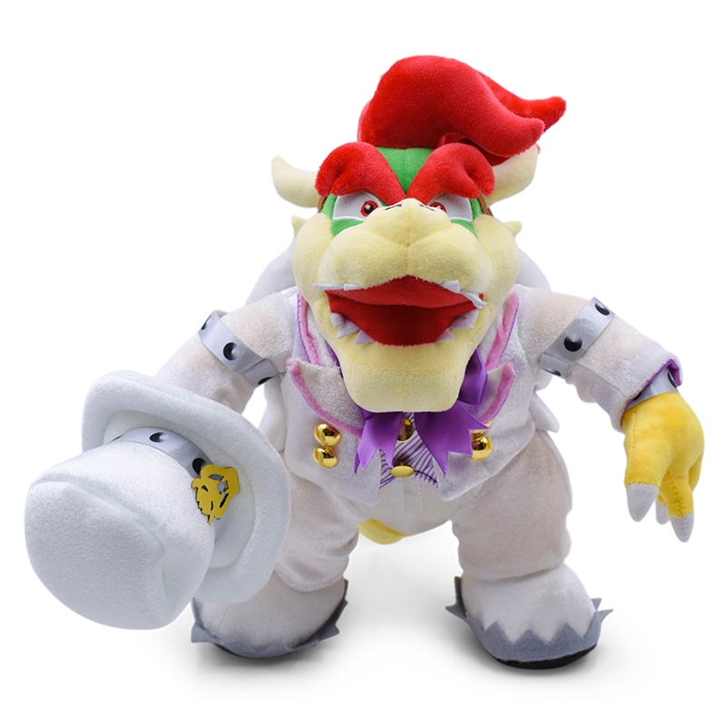 36CM Big Standing Bowser Soft Plush Toys Anime Super Mario Wear a White Uniform Koopa Peluche Stuffed Dolls For Child Baby Toy36CM Big Standing Bowser Soft Plush Toys Anime Super Mario Wear a White Uniform Koopa Peluche Stuffed Dolls For Child Baby Toy