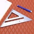 De aleación de aluminio de velocidad Plaza transportador de inglete de Tri-línea de cuadrados marcado VI guía de medición carpintero metro cuadrado gobernante
