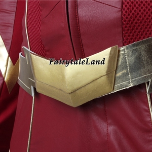 Image 5 - The Flash Season 4 Barry Allen Flash Cosplay Costume Carnival Halloween Costumes for adult Men Flash costume red uniform
