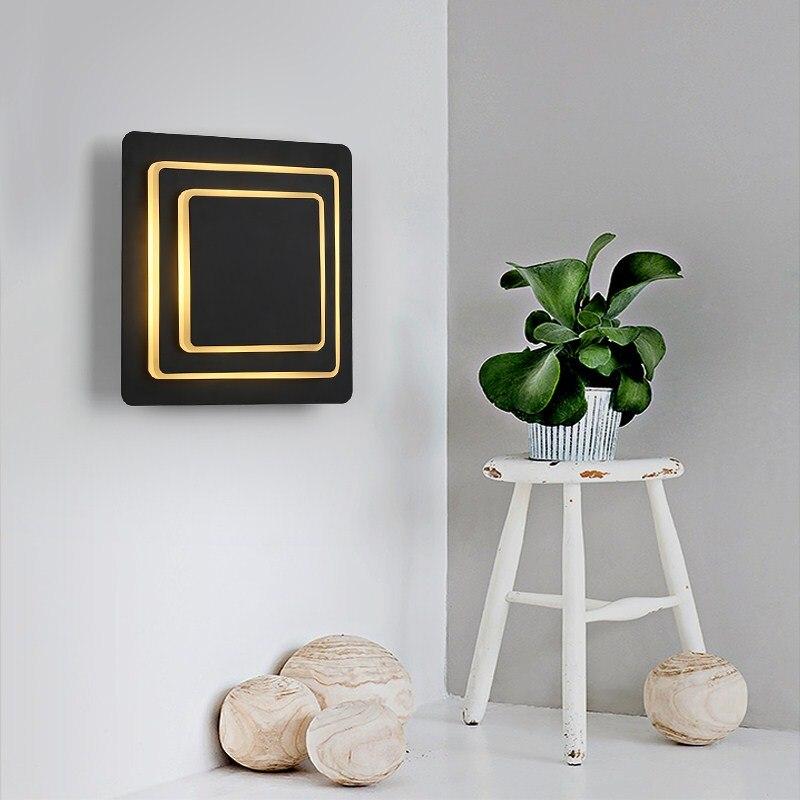 Здесь можно купить  Creative revolving wall lamps square simple living room restaurant sconce bedroom staircase lamp bedside wall light LU8221740  Свет и освещение