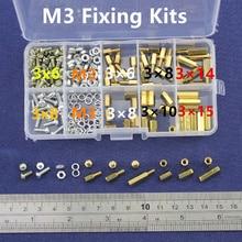 NEW M3 Brass Spacer Standoff / Screw / Nut  Male Female PCB Board Screw Assortment Kit Set  #M3
