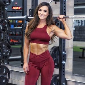 Image 5 - 2019 Sportswear Frau Gym Kleidung Sport Yoga Set Sport Bh und Legging Hosen Fitness anzug Sexy Workout Kleidung für frauen