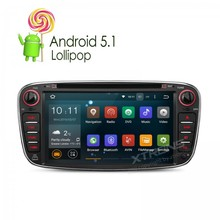 "Más nuevo 7 ""android 5.1 piruleta quad core estéreo del coche dvd gps para ford focus mondeo s-max galaxy toumeo transit connect conectar"