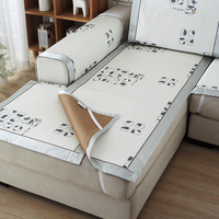 Modern Technology Ice Silk Sofa Sets Silver Cartoon Pattern Printing Sofa Cover Stretch Furniture Covers Printed