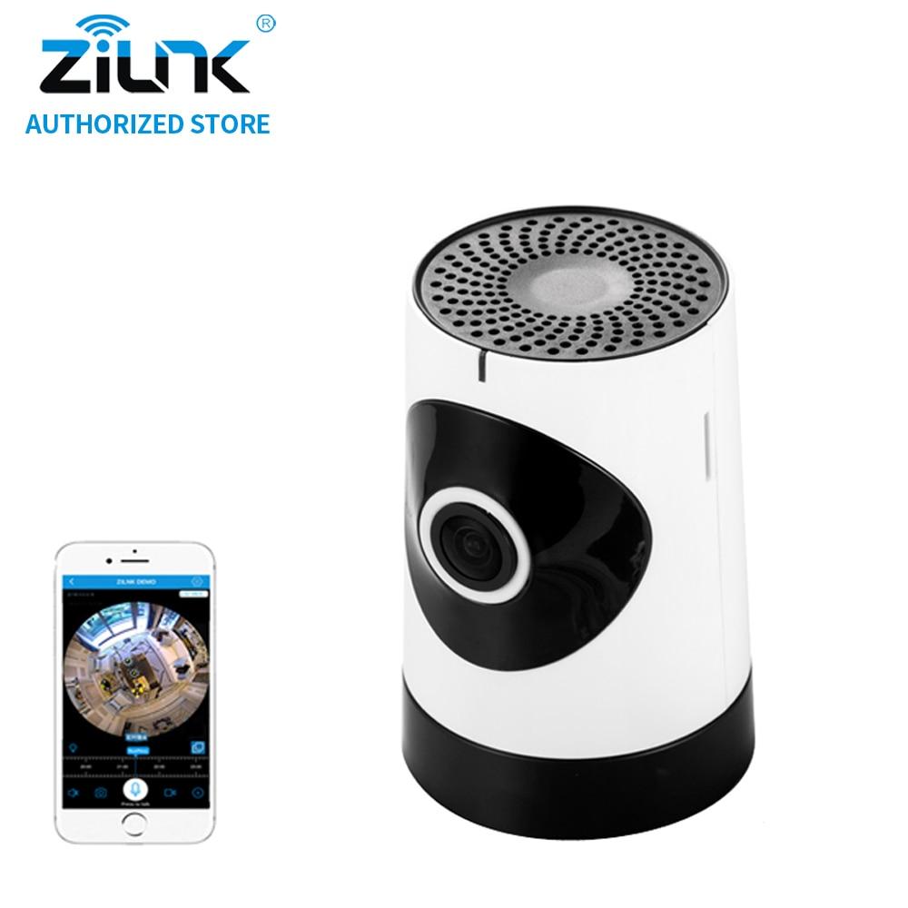 ZILNK Mini 1MP 720P HD Fisheye 185 Degree Panorama Mini Wireless WiFi IP Camera Two Way Audio SD Card Security CCTV VR Cam White fpv 1 2ghz 100mw 4ch wireless audio