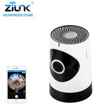 ZILNK Mini 1MP 720P HD Fisheye 185 Degree Panorama Mini Wireless WiFi IP Camera Two Way Audio SD Card Security CCTV VR Cam White