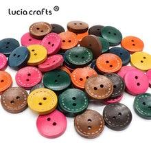 Lucia crafts 20 мм деревянная кнопка 2 отверстия круглая форма швейные кнопки для одежды принадлежности для скрапбукинга «сделай сам» E0107