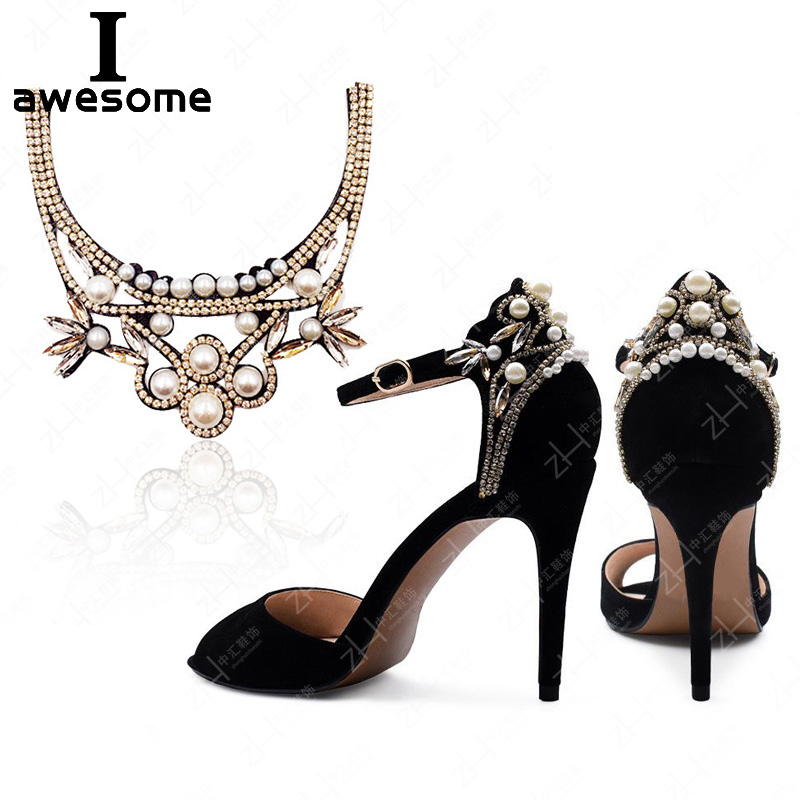 High Quality Rhinestone Beads Bridal Wedding Party Shoes Accessories For High Heels Boots DIY Manual Decorations Shoe's Flower