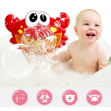 Cute Funny Crab Shape Music Bubble Maker Machine Blower Toy with 12 Songs for Children Kids Baby Showers Swimming Pool Bathtub