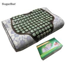 Jade Подушка Тяговая кровать подушка для здоровья подушка для тела шеи массажер тепло удобный подарок с коробкой посылка
