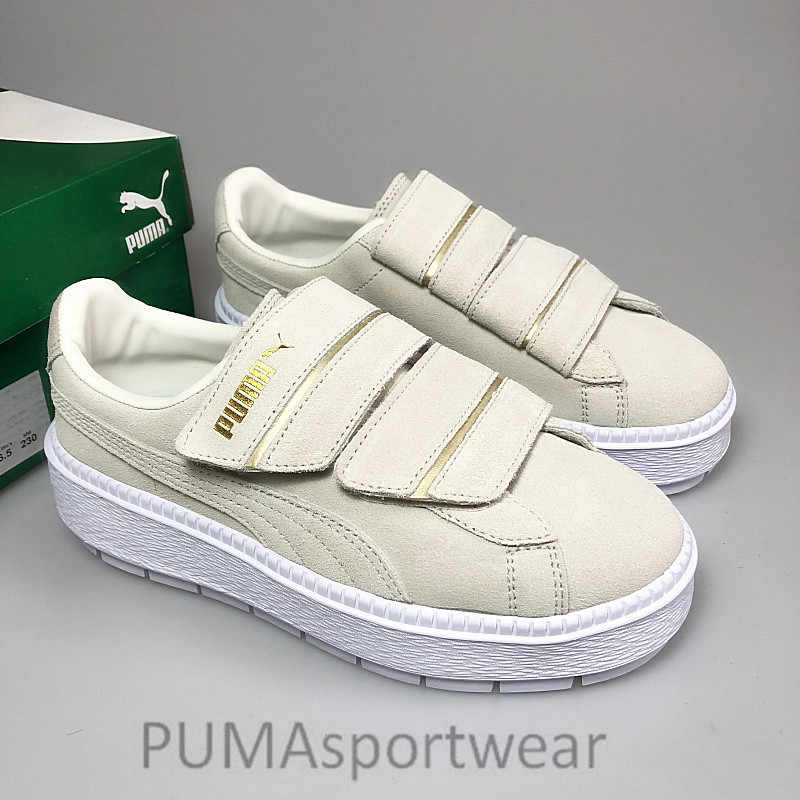 749d950d7b0 New Arrival PUMA Fourth Generation Rihanna Magic Stickers Women's Original  PU Strap Platform Satin Badminton Shoes Size35.5-40
