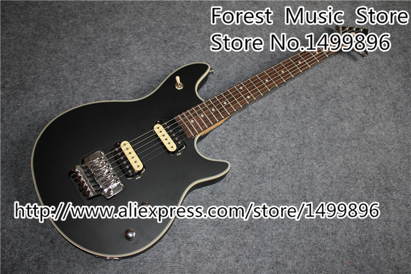 Custom Shop Black Electric Guitar Silver Floyd Rose Tremolo Wolfgang EVH Guitars China Kits & Body Available окуляр levenhuk левенгук kellner wa 40 мм 2