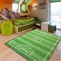 Campo De Futebol de acrílico para Crianças Sala de estar Tapete Tapete Alfombras Tapis salão Tapetes Tapetes e carpetes Tapetes Tapete Tapis