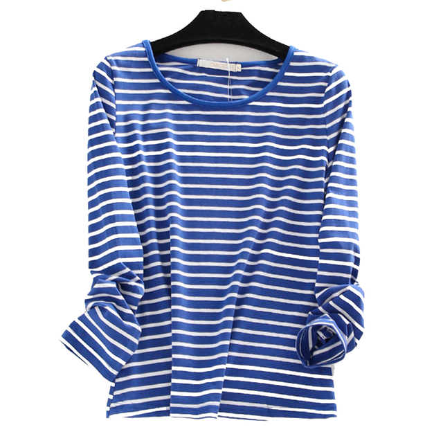 e670d321525 Women s Plus Size Oversized 3XL 4XL 5XL 6XL Cotton Long Sleeve Striped T-shirts  t