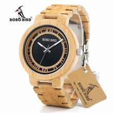 BOBO BIRD CdN19 New Fresh Breeze Wooden Wristwatch Men Top Brand Luxury Fashion Watches for Men with Free Freight