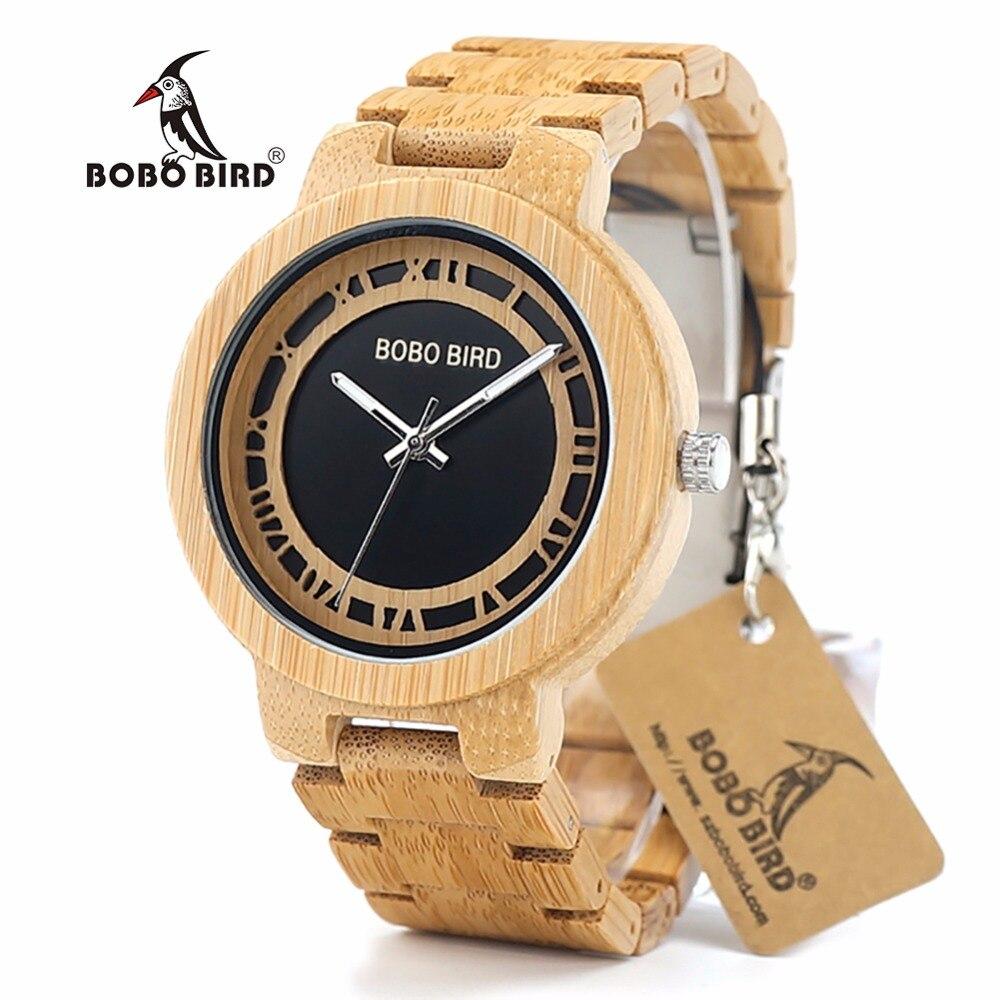 BOBO BIRD L-N19 montre moderne en bois montre-bracelet hommes Top marque origine à la main montres de mode pour hommes en chine